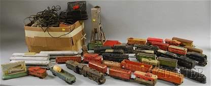 204 Group of Vintage Toy Electric Trains and Accessori