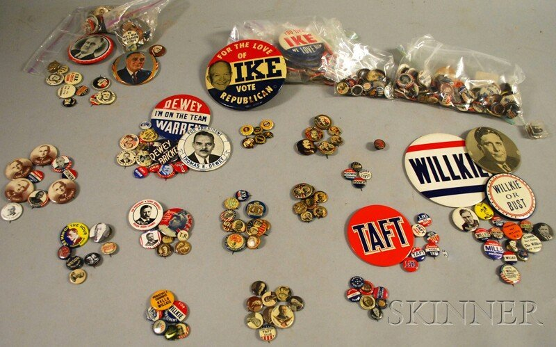 323A: Collection of 19th and 20th Century Political Pin