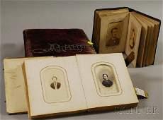 462: Three 19th Century Portrait Photograph Albums, two