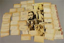 493: Collection of Movie and Entertainer Autographs, c.