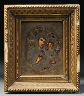 Icon Depicting The Mother Of God And The Christ Ch