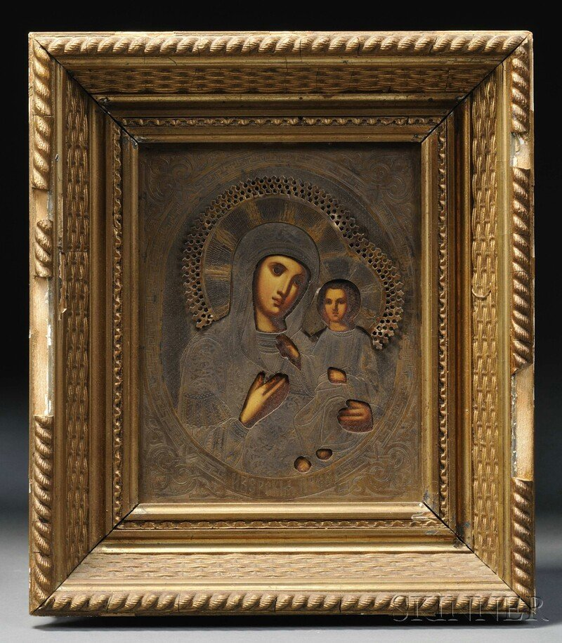 695: Icon Depicting the Mother of God and the Christ Ch