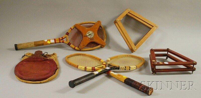 "701: Three Vintage Tennis Racquets, ""Stephen J. Feron,"