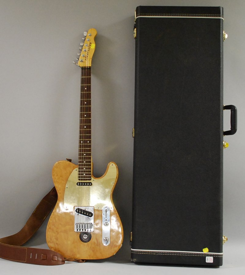 """709: """"Telecaster"""" Electric Guitar, with case."""