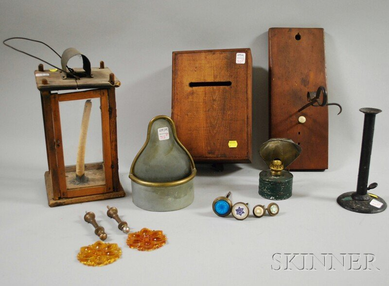 712: Group of Early Miscellaneous Lighting and Decorati