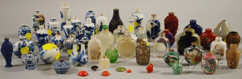 1034: Large Group of Chinese Snuff Bottles and Assorted