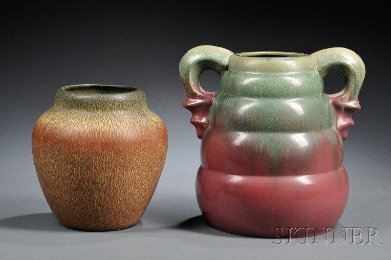 5: , Two Pottery Vases: Weller and Fulper, Art pottery,