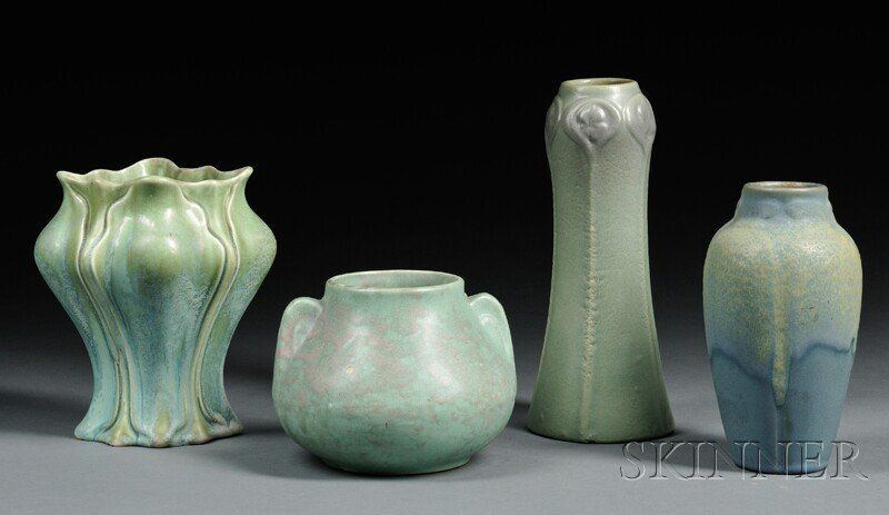 , Four Pieces of Arts & Crafts Pottery, Art pottery