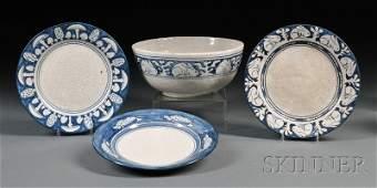 34: , Four Pieces of Dedham Pottery, Art pottery, Servi