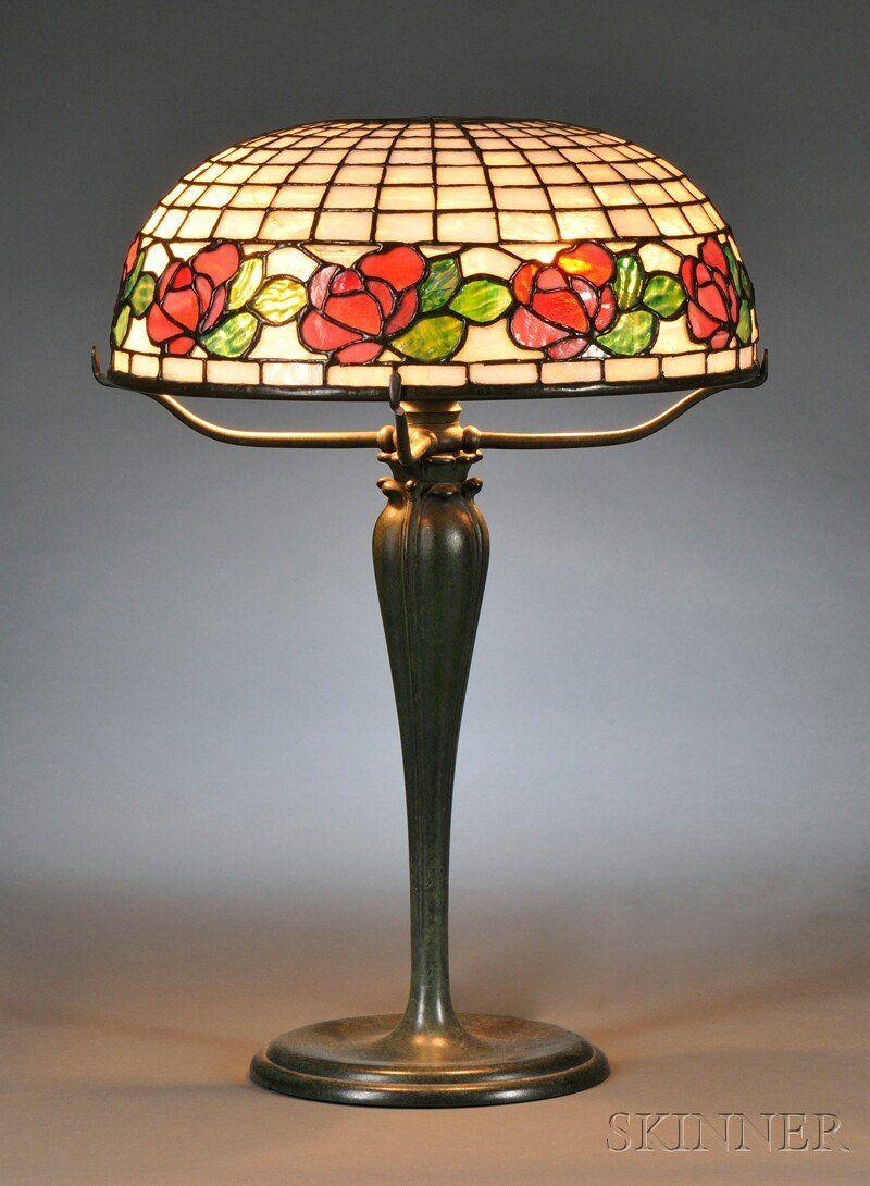 , Bigelow, Kennard & Co. Table Lamp, Leaded glass