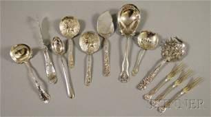 15: Twelve Assorted Sterling Silver Flatware Items, inc