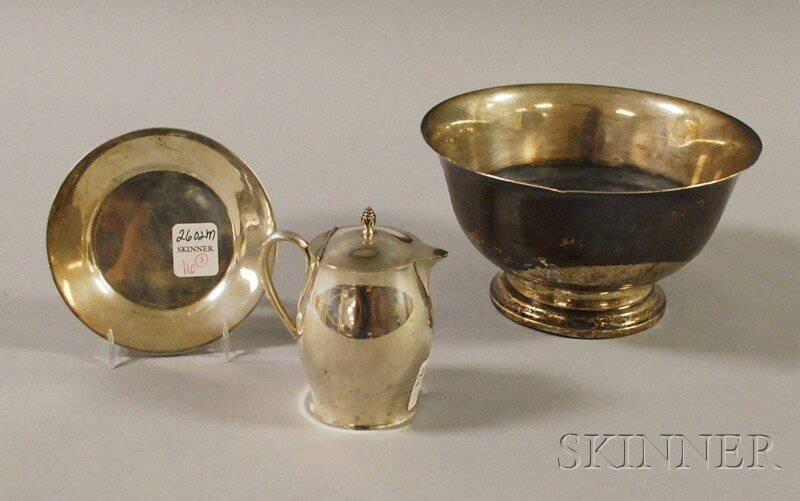 16: Three Revere-pattern Sterling Silver Tableware Item