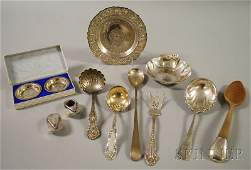 18: Group of Assorted Silver Flatware and Tableware, a