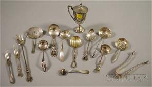 60: Assorted Small Sterling Silver Flatware Serving Ite