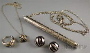 172: Small Group of Tiffany & Co. Sterling Silver Jewel