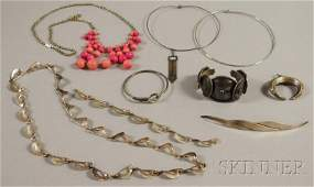 270: Assorted Group of Mostly Sterling Silver Jewelry,