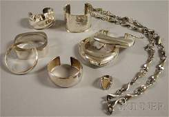 274: Group of Mostly Sterling Silver Jewelry, including