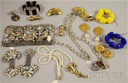 299: Group of Mostly Designer Costume Jewelry, makers i