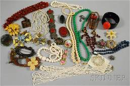 319A: Group of Assorted Mostly Costume Jewelry, includi
