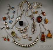 392: Assorted Group of Mostly Sterling Silver Jewelry,