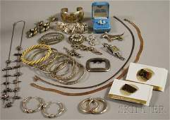 405: Group of Mostly Sterling Silver Jewelry, including