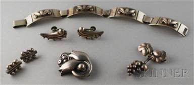 444: Small Group of Mostly Georg Jensen Sterling Silver