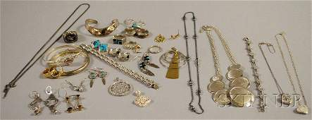 461: Group of Mostly Sterling Silver Jewelry, including