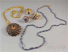 481 Group of Assorted Gold and Sapphire Jewelry an ov