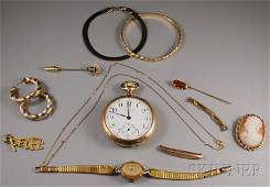 519: Small Group of Gold and Gold-filled Jewelry, inclu