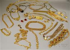 530 Group of Goldtone Costume Jewelry including neck