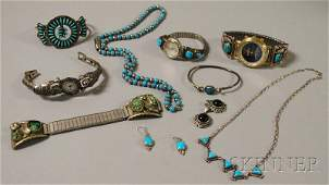 531: Small Group of Mostly Sterling Silver Jewelry, man