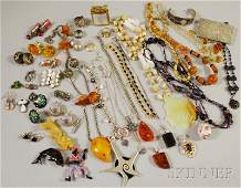 560 Group of Sterling Silver and Costume Jewelry incl