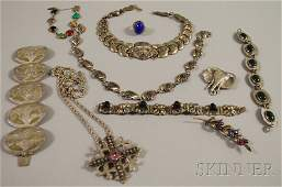 577: Small Group of Mostly Sterling Silver Jewelry, a M