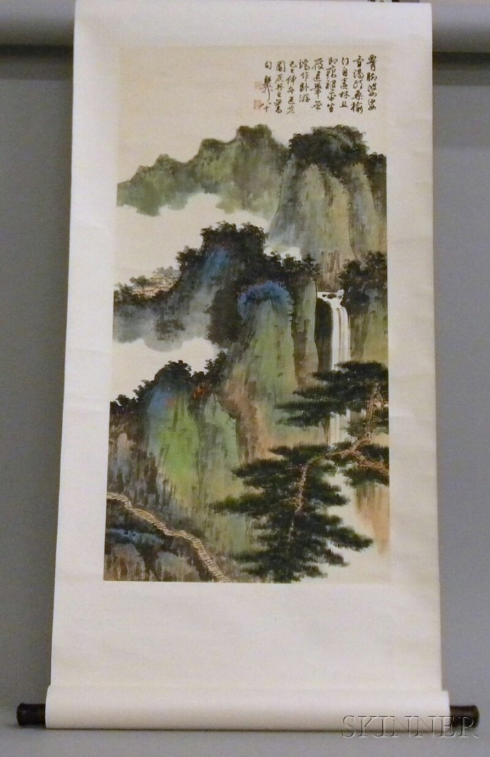 701: Hanging Scroll, China, ink and colors on paper, in