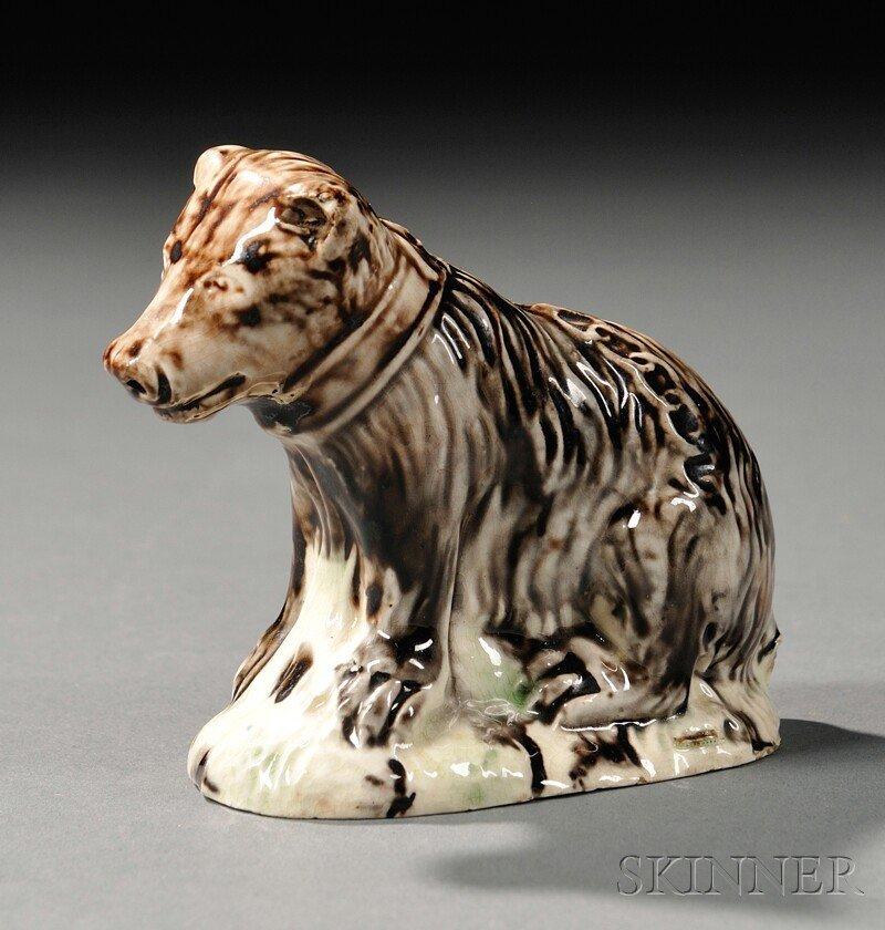 1: Staffordshire Lead-glazed Creamware Model of a Bear,