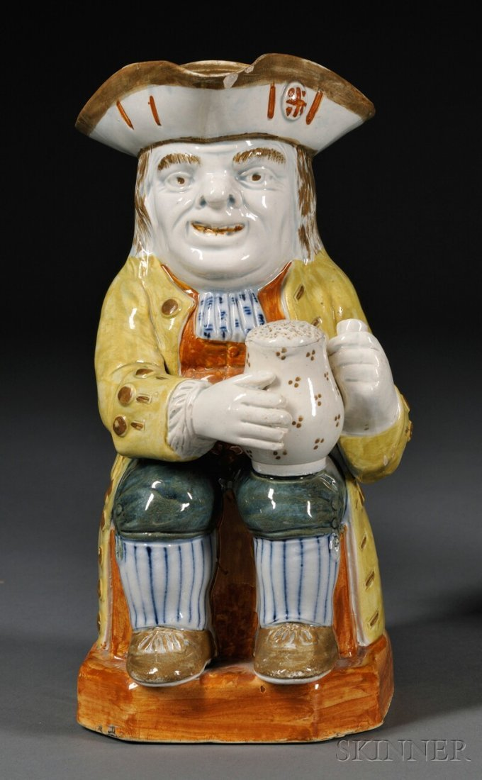 2: Pratt-type Staffordshire Toby Jug, England, c. 1800,
