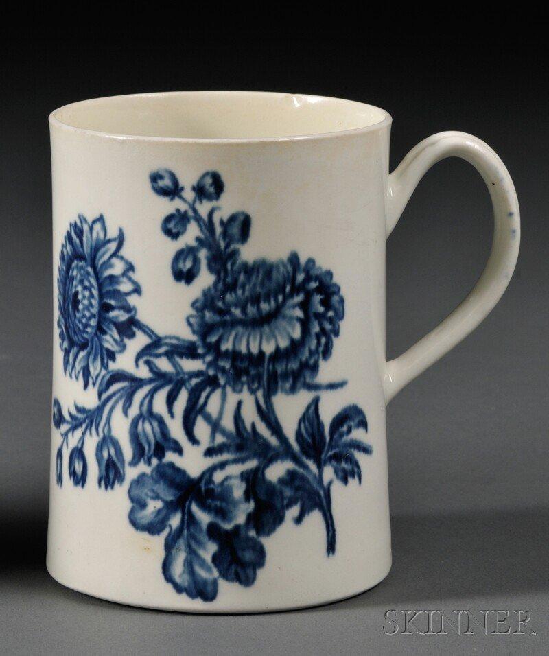 19: Worcester Blue Transfer-printed Porcelain Mug, Engl
