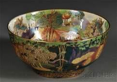 258: Wedgwood Fairyland Lustre Bowl, England, c. 1920,