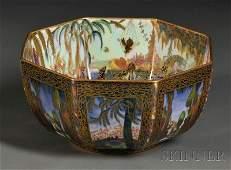 260: Wedgwood Fairyland Lustre Octagonal Bowl, England,