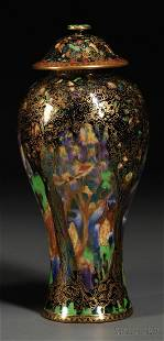 272: Wedgwood Fairyland Lustre Vase and Cover, England,