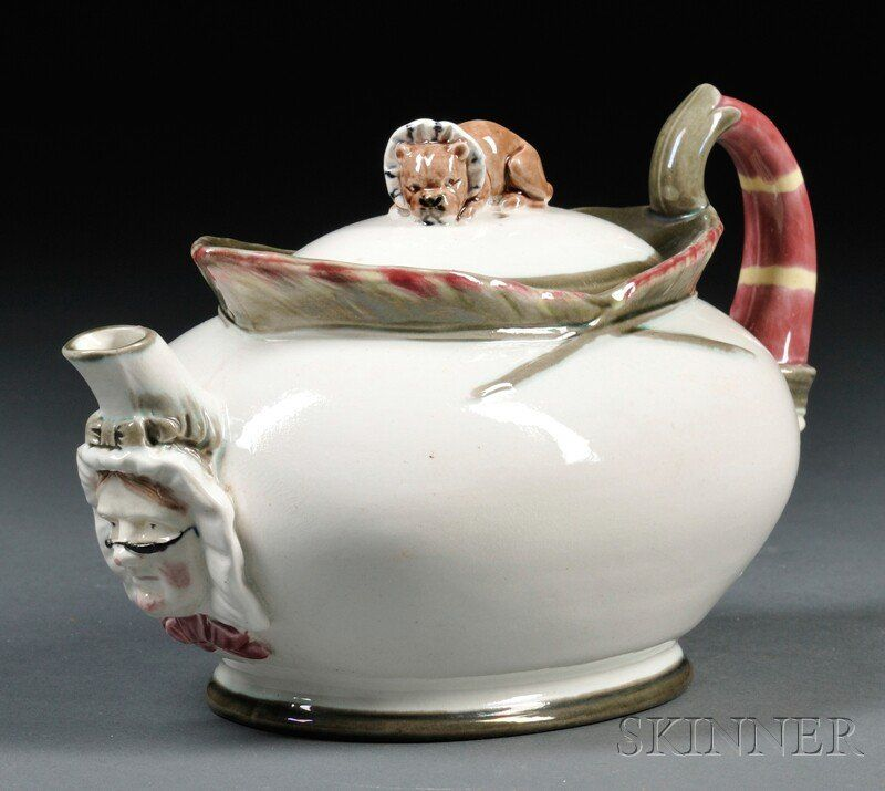 """Wedgwood Majolica """"Punch"""" Teapot and Cover, Englan"""