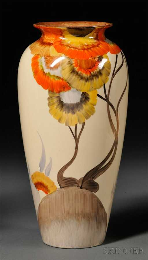 442 Clarice Cliff Bizarre Ware Vase England 20th Cen