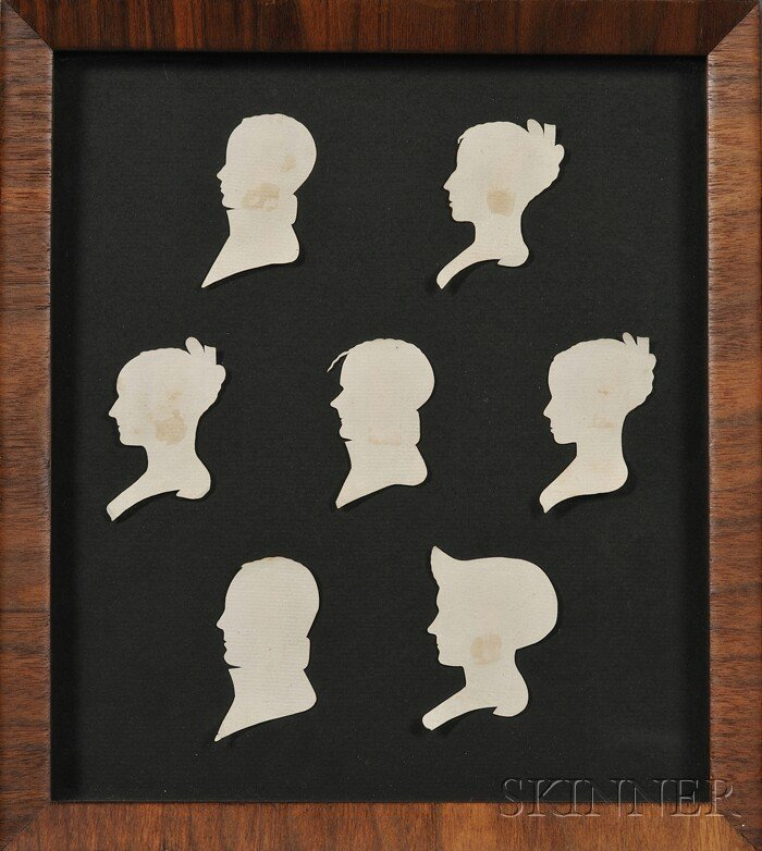 602: Framed Silhouette Portraits of a Keene, New Hampsh