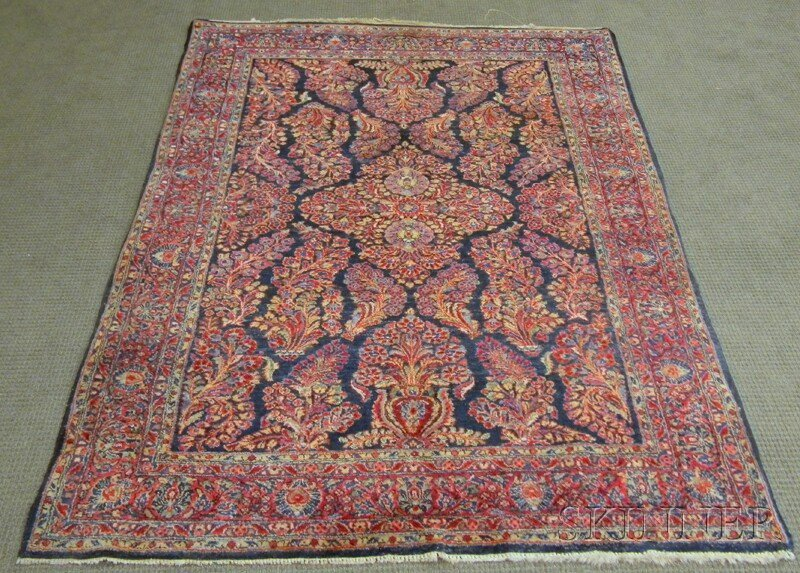 603: Sarouk Rug, West Persia, early 20th century, (curl