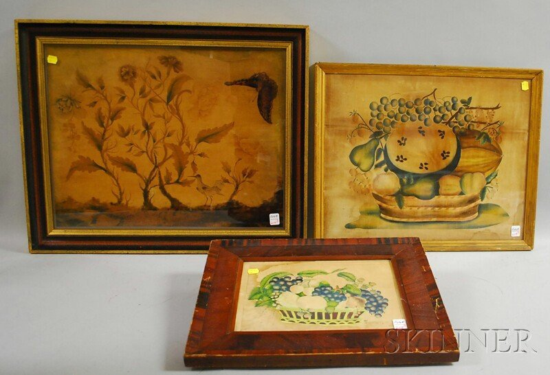 604: Three Framed 19th Century Theorems, one depicting