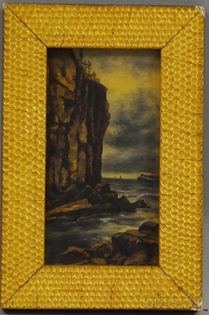610: American School, 19th Century Seaside Cliffs with