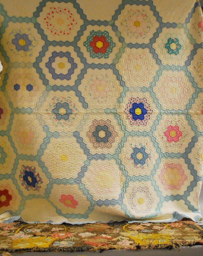 624: Hand- and Machine-stitched Pieced Cotton Grandmoth