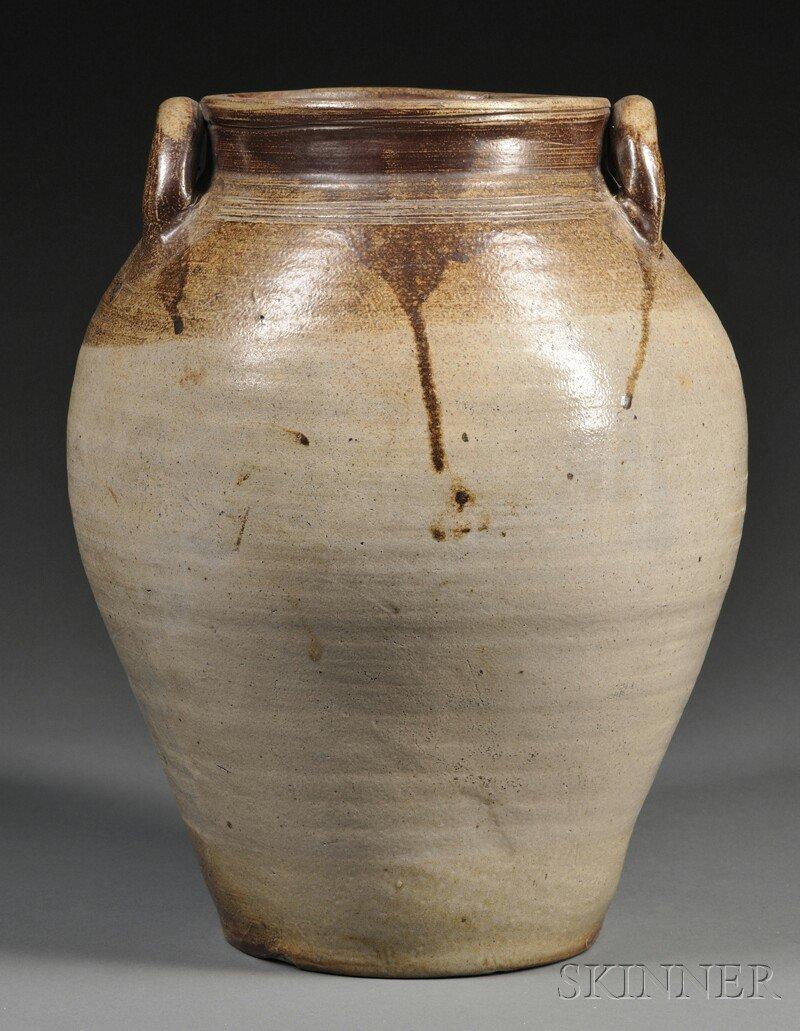 650: Salt-glazed Stoneware Jar, attributed to Frederick