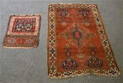 953 Two Oriental Rugs 19th20th century Kazak 5 ft