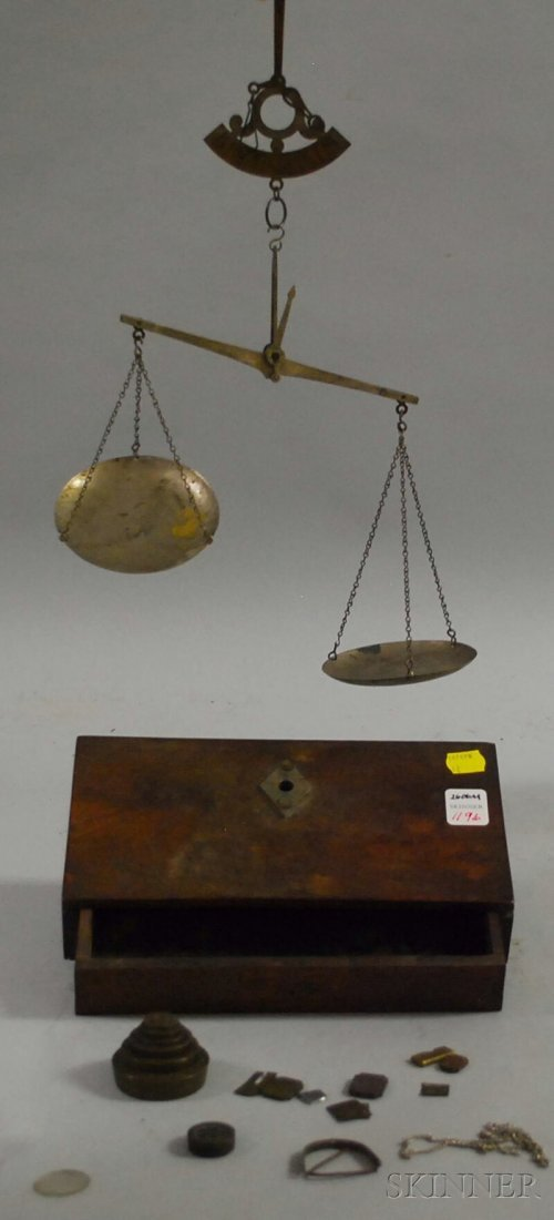 1196: Marshall Son & Co. Gold Scale, single-drawer maho